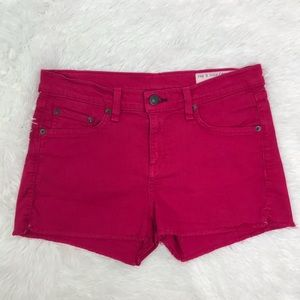 Rag & Bone/ Jean Pink Shorts raw hem Size 26.